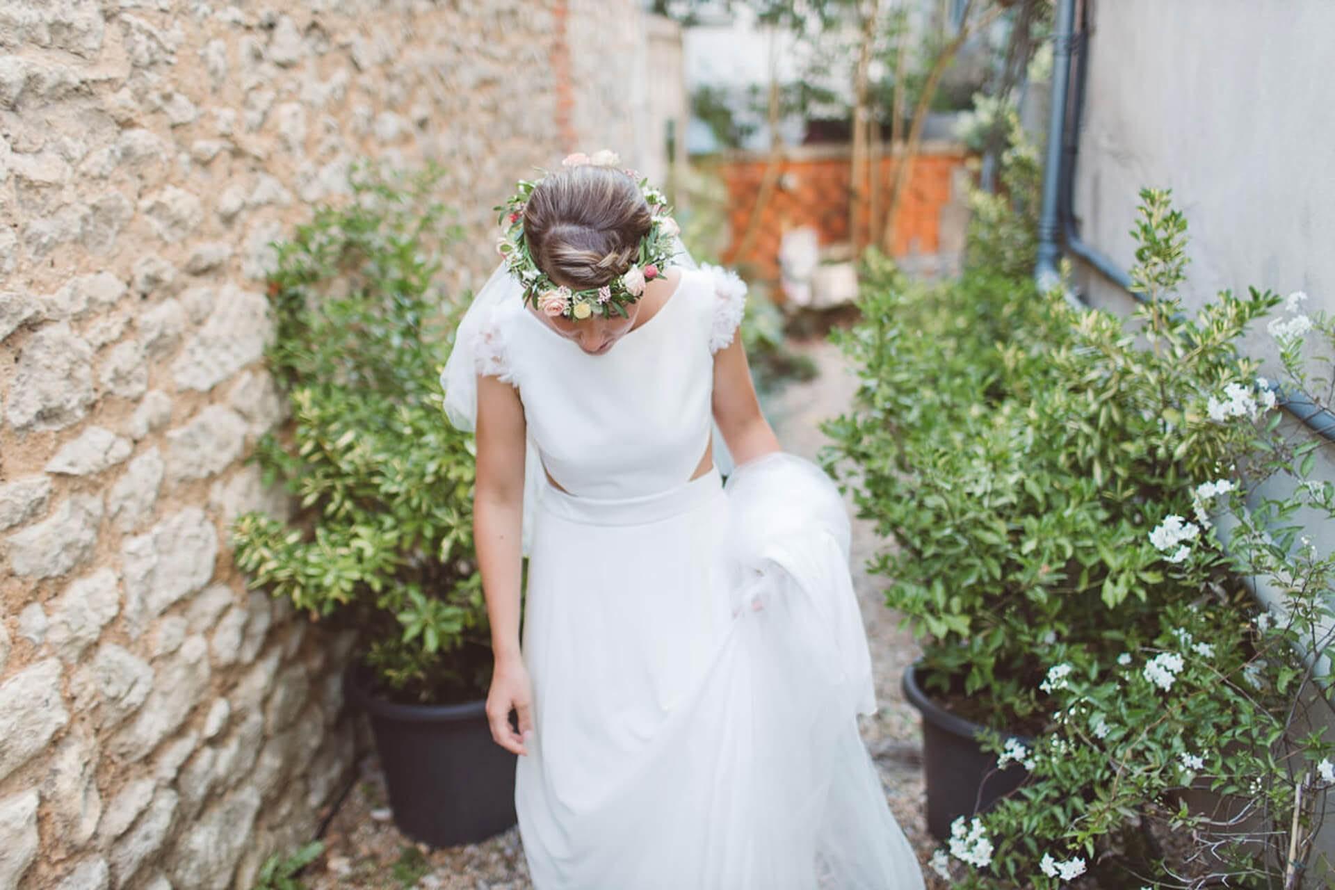 couronne mariée mariage toulouse vert autrement